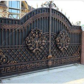Ворота горячая ковка