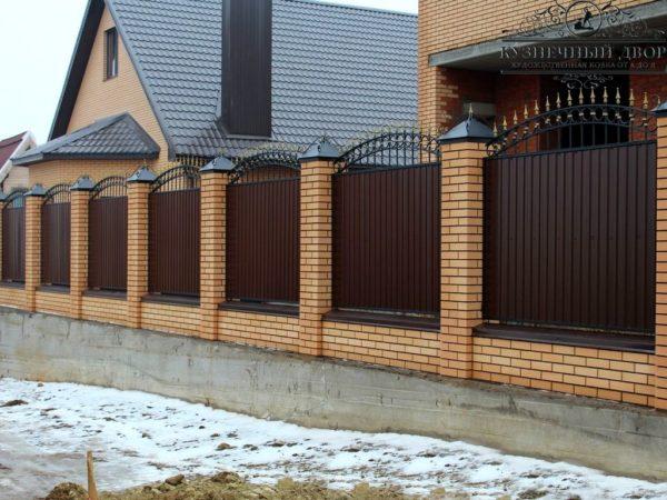 Забор кованый ЗГК-9