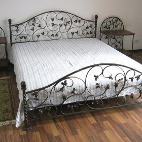 Кровать кованая КРГК-13