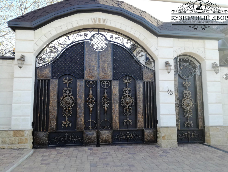 Кованые ворота в Туапсе