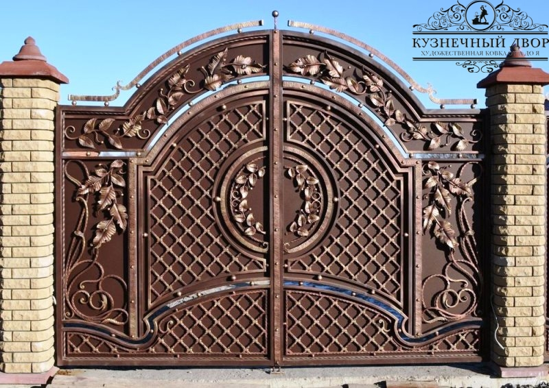 Кованые ворота в Анапе