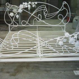 Кровать кованая КРГК-19