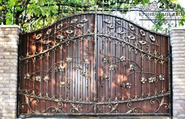 Ворота кованые распашные ВГК-78