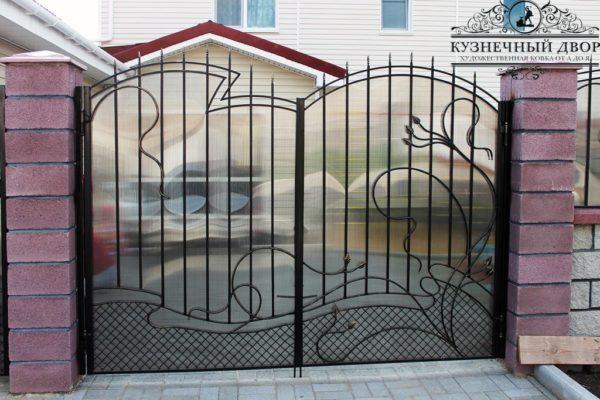 Ворота кованые распашные ВГК-81