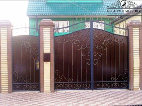 Ворота кованые распашные ВГК-85