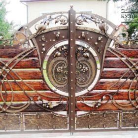 Ворота кованые распашные ВГК-87