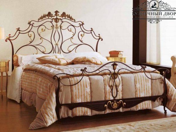 Кровать кованая КРГК-28