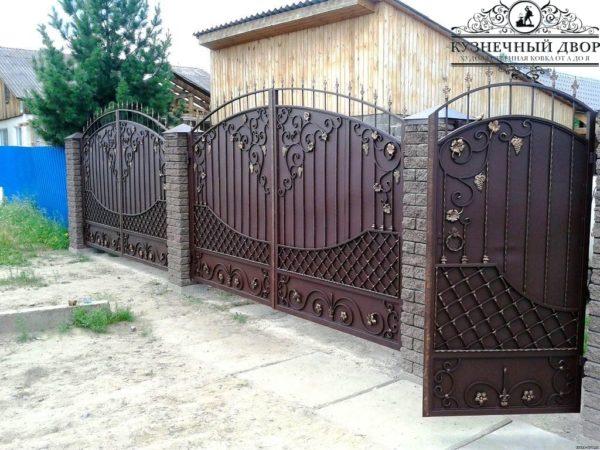 Ворота кованые ВГК-117