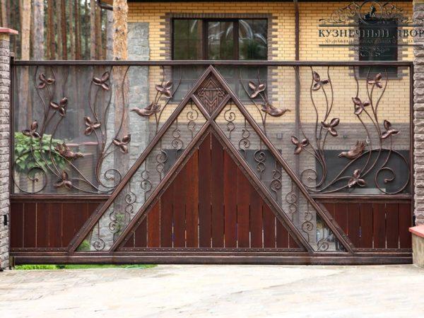 Ворота кованые откатные ВГК-127