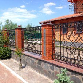 Забор кованый ЗГК-49