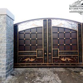 Кованые ворота ВГК-135