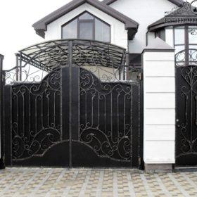 Кованые ворота ВГК-136