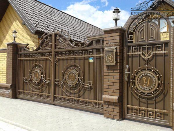 Ворота кованые ВГК-146
