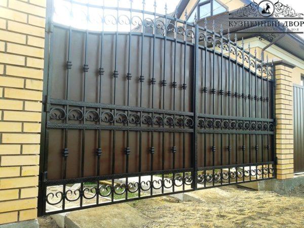 Ворота кованые распашные ВГК-151