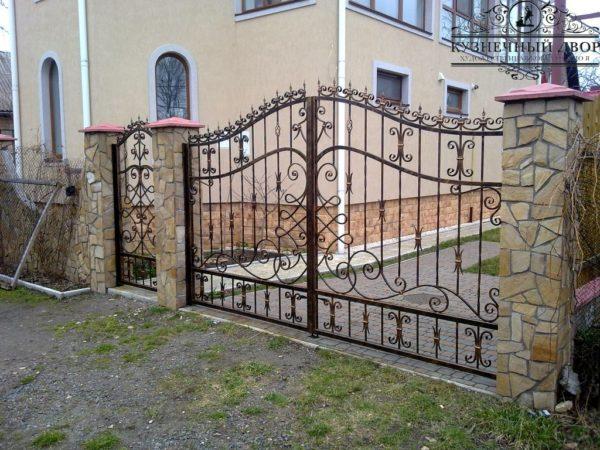 Ворота кованые ВГК-156