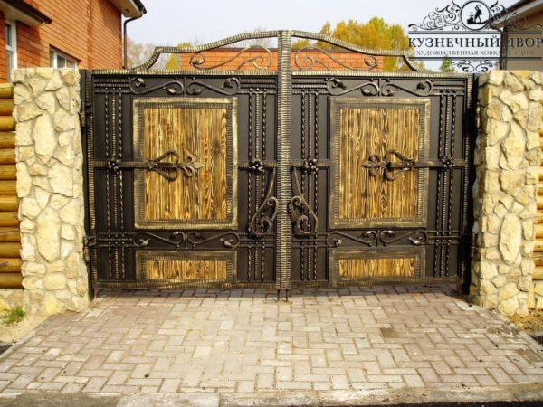 Кованые ворота ВГК-169